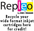 Repleo wide format inkjet cartridge recycling